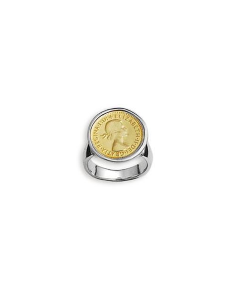 3 Pence Coin 2 Tone Ring