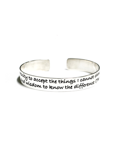 'The Serenity Prayer' Cuff Bracelet