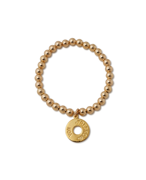 Gold Ball Bracelet w/ Von Treskow Circle