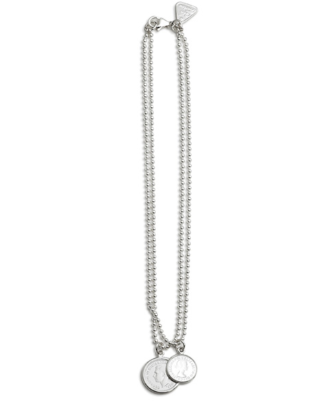 40cm Double Ball Chain w/ 6 Pence & 3 Pence Coins