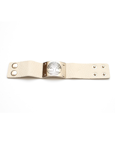 Cream Leather Bracelet