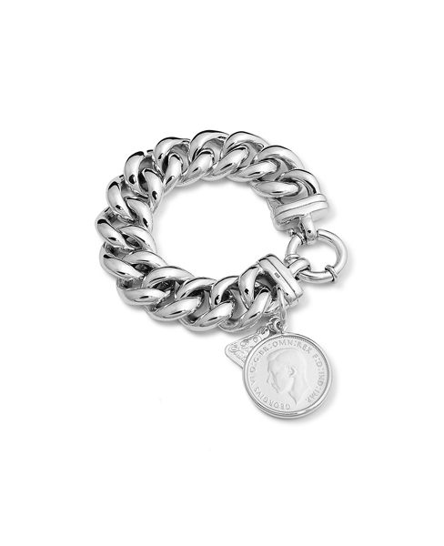 BIG MAMA BOLT BRACELET w COIN, Von Treskow, Jewellery, Sunglasses, Rings, Necklaces, Bracelets, Free Shipping, For Sale Australia, Zinc Shop