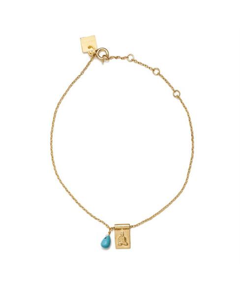 Gold Little Buddha With Sleeping Beauty Bracelet :: Zinc